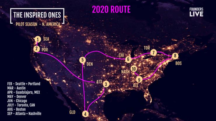 Tour Map - 2020
